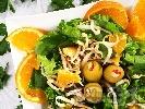 Рецепта Зелена салата с портокал и соеви кълнове